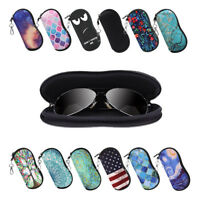 Light Portable Neoprene Zipper Sunglasses Soft Case Glasses Case with Carabiner