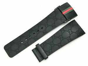 I Gucci 26mm Genuine OEM Replacement Rubber Strap Men's IGucci YA114207 Watch
