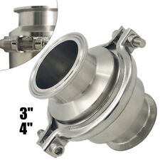 New listing Φ102mm 4 Inch Sanitary Stainless Steel Tri Clamp Vertical Check Valve Ss304