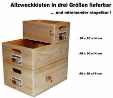 Allzweckkiste Kiefer Holz Kiste Allzweck Box Holzkiste Stapelbox Kynast 3 Größen