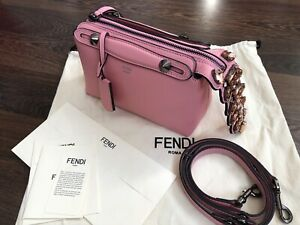 Authentic Limited Edition Fendi By The Way Bag Mini Croc Crystal Jewel Tail New
