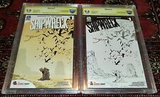 SHIPWRECK #1 CBCS 9.8 Color and Sketch Variant Set SIGNED! ONLY 50 IN EXISTENCE!