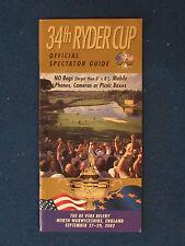 RYDER Cup 2002-spettatore GUIDE-Tenuta al Campanile