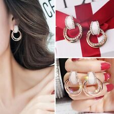 Womens Fashion Crystal Rhinestone Ear Stud Circle Earring Party Wedding Jewelry