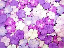 50 Mixed Tone Purple color Carnation flower mulberry paper for Craft & D.I.Y