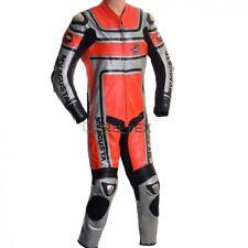 Rot Silber Mv Agusta SPORTS Klassisch 1 Teile Motorrad Rennen Leder Biker Suit