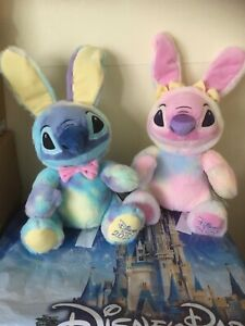 DISNEY STITCH & ANGEL EASTER BUNNY 2020 PLUSH SOFT TOYS BRAND NEW WITH TAGS 🏷..