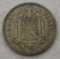 SPAGNA: MONETA DA 1 PESETA CAUTILLO 1963 - BB- n. 921