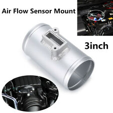 "Silver 3"" Air Flow Sensor Mount Performance Air Intake Meter Adapter For Car SUV"