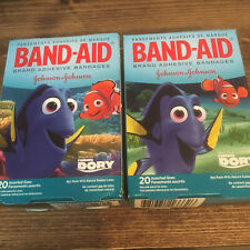 2 boxes Finding Dory Bandages Band Aids 20 assorted sizes in each box
