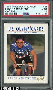 1992 Impel Olympicards Cycling #31 Lance Armstrong PSA 9 MINT