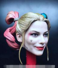 1/6th Female Clown Joker Prison Head Sculpt Carved Fit 12'' Figure Body