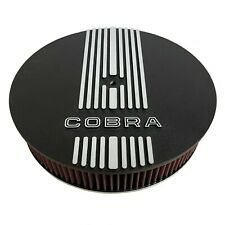 Ford Shelby Cobra Logo 13 inch Round Black Air Cleaner Kit