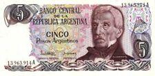 Argentine - Argentina billet neuf  5 pesos argentinos pick 312a signature 1 UNC
