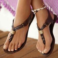 Flats Sandals Women's Flip Flops Beach Shoes Black Brown Loafers European Summer