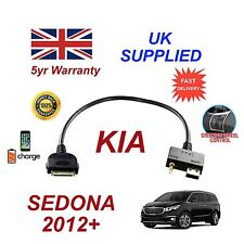 For KIA Sedona iPhone 3 3gs 4 4S iPod USB & 3.5mm Aux Audio Cable MY 20012+