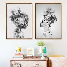 Abstract Smoke Woman Canvas Picture Paintings Prints Wall Decor Poster Unframed