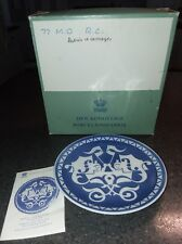 Vtg.1977 Royal Copenhagen BabyTwins in Carriage Mothers Day Plate Arne Ungerman