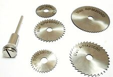 Circular Saw Blades Disc 6pc HSS Mini Set Cutting Discs Grinding HB208