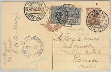 65259 - ITALIA REGNO - STORIA POSTALE: Primo Volo VENEZIA - ROMA Intero Postale