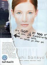 Publicité Advertising 1997  VOLKSWAGEN GOLF MATCH II  série limitée  VW