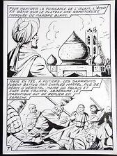 Planche originale Mellies Le mystère de la mosquée 7 Emeric 1965