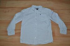 weiß blau kariertes Langarmhemd Hemd langarm Esprit Gr. 116 122