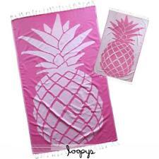 Loopys Pink Pineapple premium Turkish Cotton Beach Towel Pool Hammam Bath Fouta