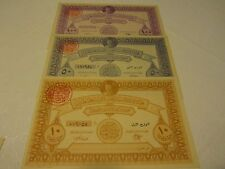 Egypt Lot of 6 Original King Farouk Notes palestine Donation with tabs
