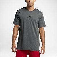 New Jordan Men's 23 Tech Tee Shirt (833786-071)  Charcoal Heather/Black