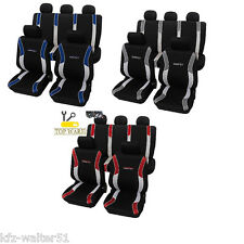 Für Audi Eco Class Sitzbezüge / Schonbezüge Energy rot blau schwarz