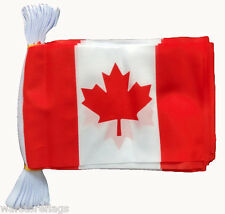 More details for canada flag bunting 9 metres 30 flags maple leaf