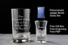 Personalised Jager Bomb Glasses Birthday Gift 18th 21st 30th 40th 50th 60th