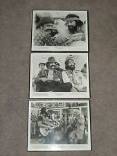 Lot Of 3 Vintage Cheech & Chong Lobby Cards Posters Framed 1980
