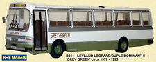 BASE TOYS / B-T MODELS B011, LEYLAND LEOPARD DUPLE DOMINANT II, GREY GREEN