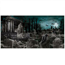 Creepy Haunted Horror Cemetary 85cm x 165cm Party Banner Supplies Decorations