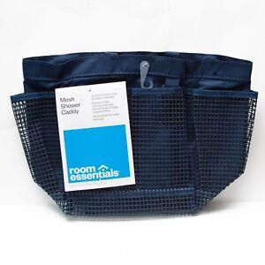 Room Essentials Polyester Mesh Bathtub Caddy Navy Blue College  Dorm School