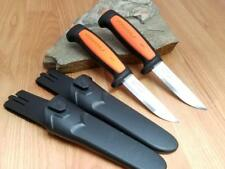 2 Pc Lot Mora Morakniv Basic 546 Stainless Black & Orange Camp Knife 02206