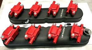 LS RACING Tall Rocker Covers + LS Racing Red Coils LS2 LS3 LS7 VT VX VZ VY VE VF