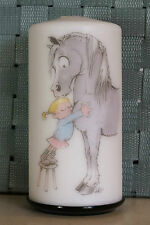 "Candle - Horse Hug - 2.8"" x 5.5""  - horse art by Turi Everett decorative candle"