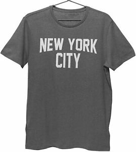 New York City Kids Tee Charcoal T-Shirt Screen-Printed Lennon Youth Shirt