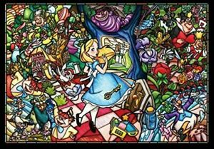 500 Alice story stained glass piece jigsaw puzzle Wonderland tightly Series