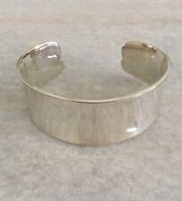 Heavy Sterling Silver Heart Love Bracelet Cuff