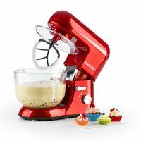 Klarstein Bella Rossa 2G Robot Cuisine Pétrisseur Mixeur 5,2L Bol de Verre