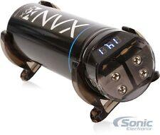 NVX XCAP1F 1 Farad Capacitor Cap with Digital Volt Meter & Distribution Block