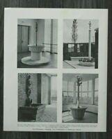AC) Blatt Fritz Schumacher Hamburg 1931 Moderne Architektur Kunst am Bau Schule