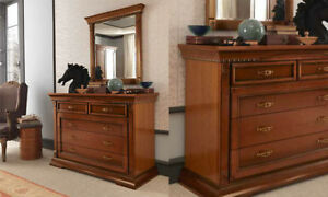 Kommode Highboard Kirschbaumfarbe Massivholz Stil Klassische Italienische Möbel