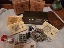 Vintage MCM Nutone Radio Intercom Master Station plus 3 Intercoms Complete