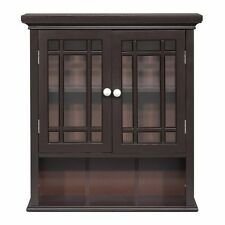 Elegant Home Fashion Neal Wall Cabinet with 2-Door and Shelf, New, Free Shipping