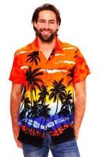 Funky Chemise Hawaïenne Hommes Beach Orange Hawaiian-Imprimer